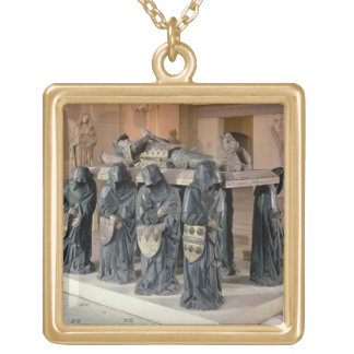 Tomb of Philippe Pot (1428-94) from Citeaux Abbey, Gold Plated Necklace