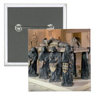 Tomb of Philippe Pot (1428-94) from Citeaux Abbey, Pinback Button
