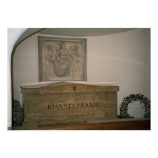 """Tomb of Pope John XXIII in the crypt of St Peter""""s Poster"""