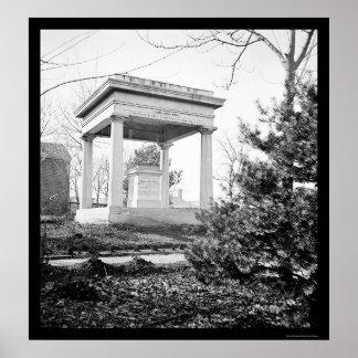 Tomb of President James Polk in Nashville TN 1864 Posters
