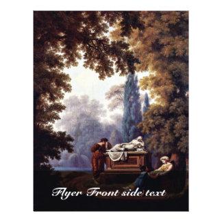 Tomb Of S. De La Rive By Larive Pierre-Louis De Full Color Flyer