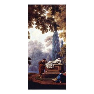 Tomb Of S. De La Rive By Larive Pierre-Louis De Custom Rack Cards