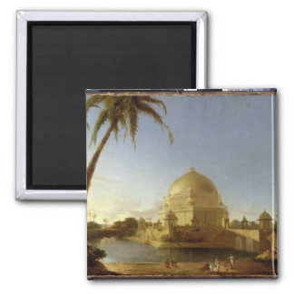 Tomb of Sher Shah, Sasaram, Bihar, c.1790 (oil on 2 Inch Square Magnet
