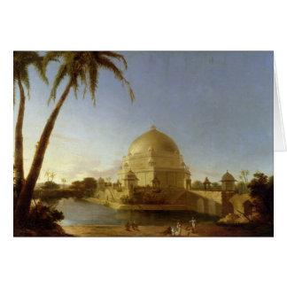 Tomb of Sher Shah, Sasaram, Bihar, c.1790 (oil on Greeting Card
