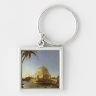 Tomb of Sher Shah, Sasaram, Bihar, c.1790 (oil on Silver-Colored Square Keychain
