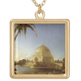 Tomb of Sher Shah, Sasaram, Bihar, c.1790 (oil on Square Pendant Necklace