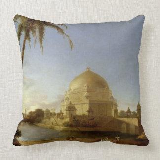 Tomb of Sher Shah, Sasaram, Bihar, c.1790 (oil on Throw Pillow