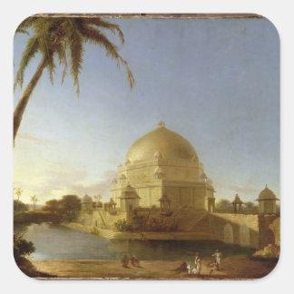 Tomb of Sher Shah, Sasaram, Bihar, c.1790 (oil on Square Sticker
