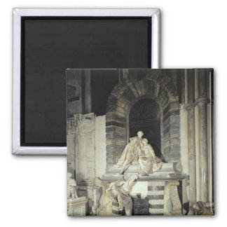 Tomb of Sir Joseph and Lady Elizabeth 2 Inch Square Magnet