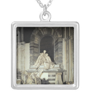 Tomb of Sir Joseph and Lady Elizabeth Silver Plated Necklace