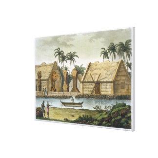 Tomb of Tamahamah at Kaiakakooa, Sandwich Islands, Canvas Print