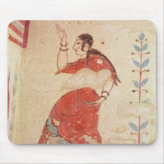 Tomb of the acrobats, detail of a dancer mouse pad