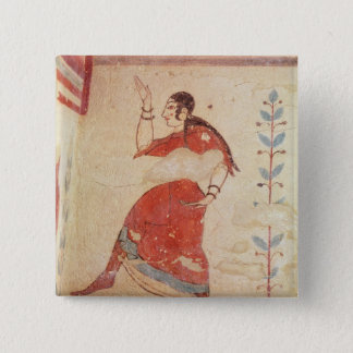 Tomb of the acrobats, detail of a dancer pinback button