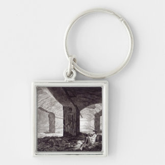 Tomb of the Cardinal at Tarquinia, c.1780 Keychain