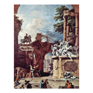 "Tomb Of The Duke Of Devonshire By Ricci Sebastiano 8.5"" X 11"" Flyer"