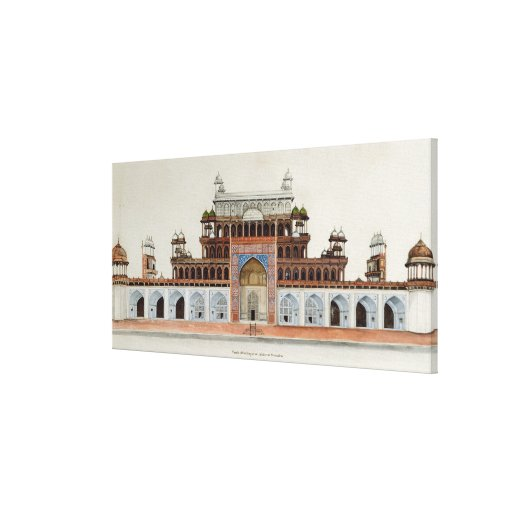 Tomb of the Emperor Akbur at Secundra Gallery Wrap Canvas