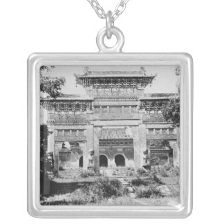 Tomb of the Emperor Qing Taizong Silver Plated Necklace