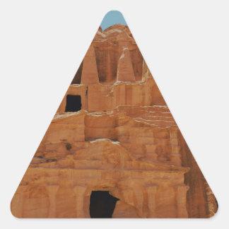 Tomb of the obelisks Petra Triangle Sticker