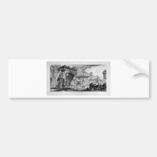 Tomb of the three brothers in Albano Curiatii Bumper Sticker