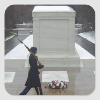 Tomb of the unknown soldier square sticker