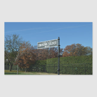 Tomb of the Unknown Street Sign Rectangular Sticker