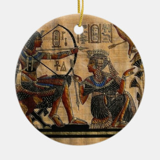 Tomb Painting on Papyrus Ceramic Ornament