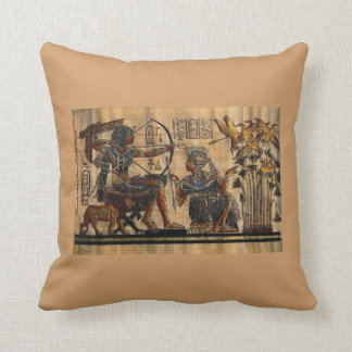 Tomb Painting on Papyrus Throw Pillow