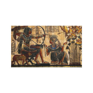 Tomb Painting on Papyrus Wrapped Canvas Stretched Canvas Prints