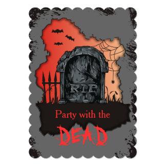 tomb stone RIP Halloween Card