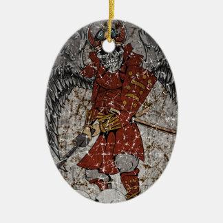 Tomb Stone Scary King Ceramic Ornament