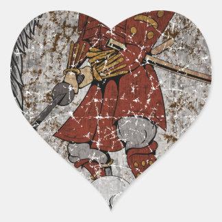 Tomb Stone Scary King Heart Sticker