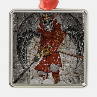 Tomb Stone Scary King Metal Ornament