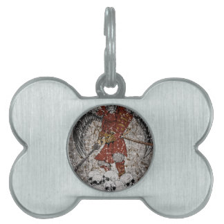 Tomb Stone Scary King Pet ID Tag