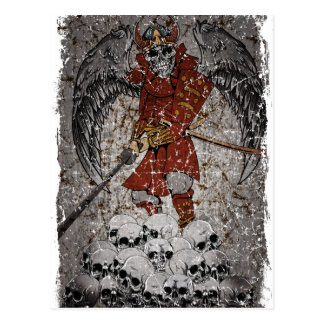 Tomb Stone Scary King Postcard