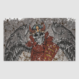 Tomb Stone Scary King Rectangular Sticker