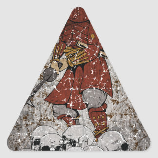 Tomb Stone Scary King Triangle Sticker