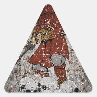 Tomb Stone Scary King Triangle Sticker