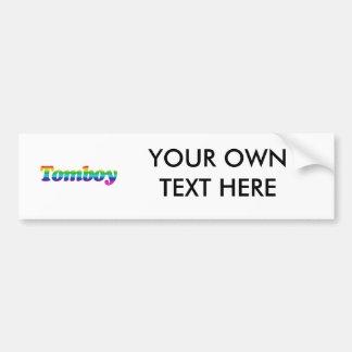 TOMBOY PRIDE CAR BUMPER STICKER