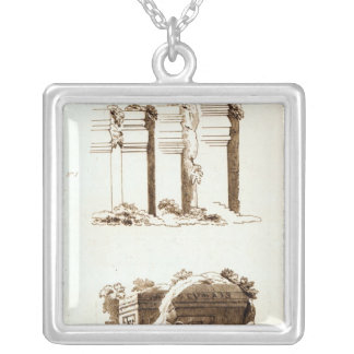 Tombs at Castel d'Asso Silver Plated Necklace