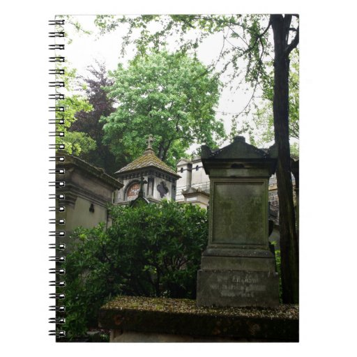 Tombs in Pere Lechaise Cemetery Spiral Notebooks