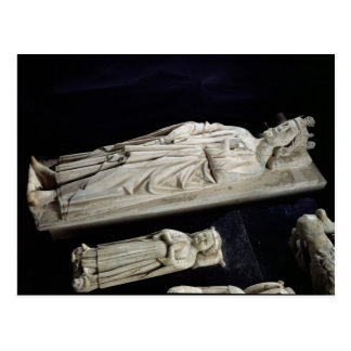 Tombs of Robert II  'the Pious' Jean I Postcard