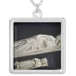 Tombs of Robert II  'the Pious' Jean I Silver Plated Necklace