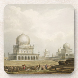 Tombs of the Kings of Golconda in 1813 from Volum Drink Coasters