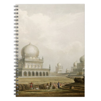 Tombs of the Kings of Golconda in 1813, from Volum Spiral Note Book