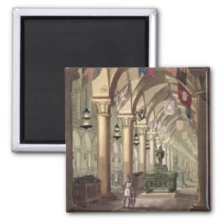 Tombs of the Knights Templar, c.1820-39 (aquatint) 2 Inch Square Magnet