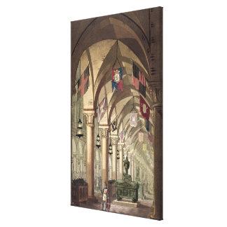 Tombs of the Knights Templar, c.1820-39 (aquatint) Canvas Print