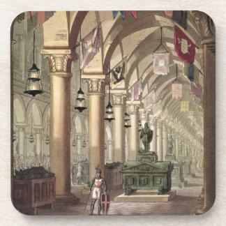 Tombs of the Knights Templar c 1820-39 aquatint Coasters
