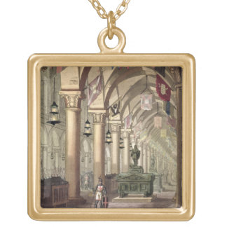 Tombs of the Knights Templar, c.1820-39 (aquatint) Gold Plated Necklace