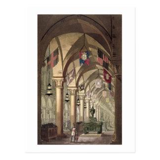Tombs of the Knights Templar, c.1820-39 (aquatint) Postcard