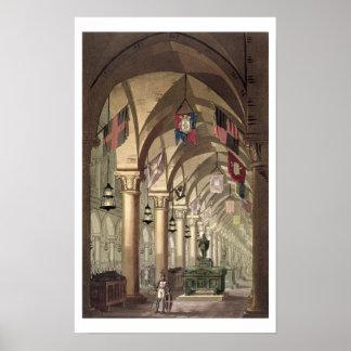 Tombs of the Knights Templar, c.1820-39 (aquatint) Print